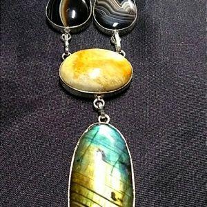 Jewelry - Labradorite & Mixed Gemstones Necklace